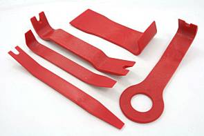 LIMICAR 9PCS Car Trim Removal Tool Kit Auto Door Panel Dash Trim Molding Fastener Removal Set Car Dash Radio Audio Installer Pry Tool Red