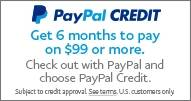 PayPal 6 Month No Interest No Payment Plan