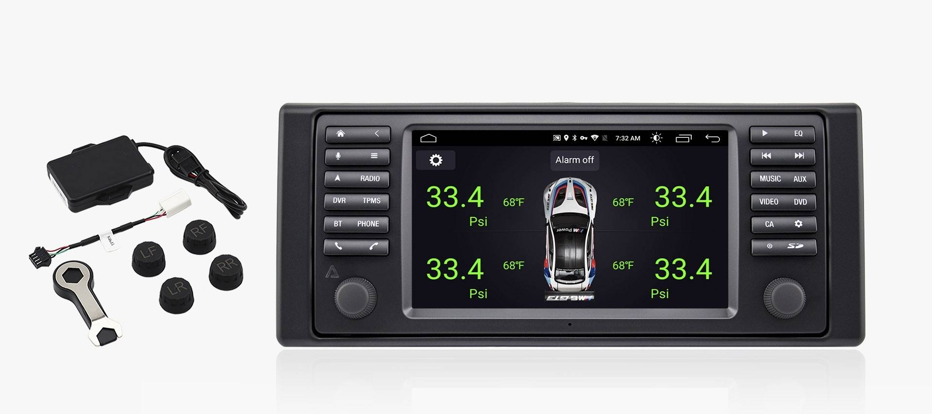 Avant 3 For E39 Bmw 5 Series Android Multimedia Navigation System Backup Camera Wiring Also Diagram Of Car Stereo Harness Radio Requires Optional Tpms Kit
