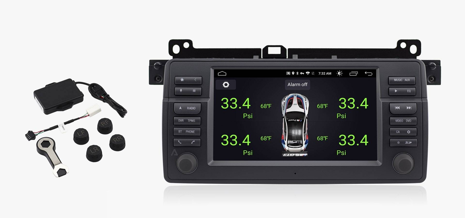 Avant3 For E46 Bmw 3 Series Android Multimedia Navigation System 99 328i Fuse Diagram Requires Optional Tpms Kit