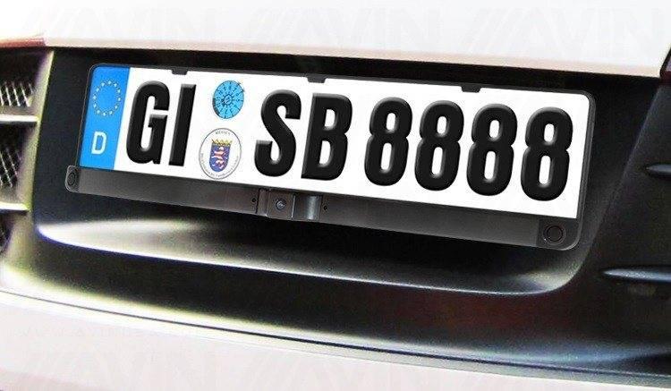 AVINUSA & Radar Parking Distance Control (PDC) European License Plate Frame ...